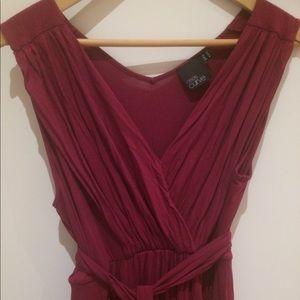 ASOS Curve Jersey Berry Maxi Dress
